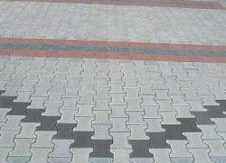 chodnik z dwuteownikowej kostki brukowej
